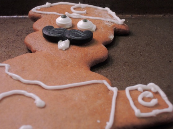 Cubs-Themed Gingerbread Man